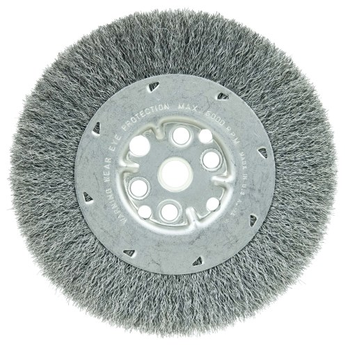 Details about  /Wire Wheel Brush w Shank Bench Copper Plated Crimped Steel 3.35-Inch Wheel Dia