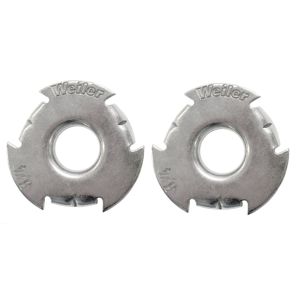 """Weiler 03811 Metal Adapter 2/"""" To 3//4/"""" Arbor Hole 10 Pair"""