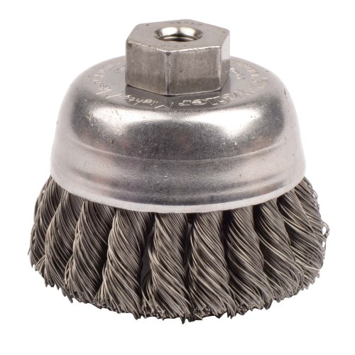 Carbon Steel 0.014 Wire Diameter String Osborn 00033367SP Knotted Wire Cup Brush