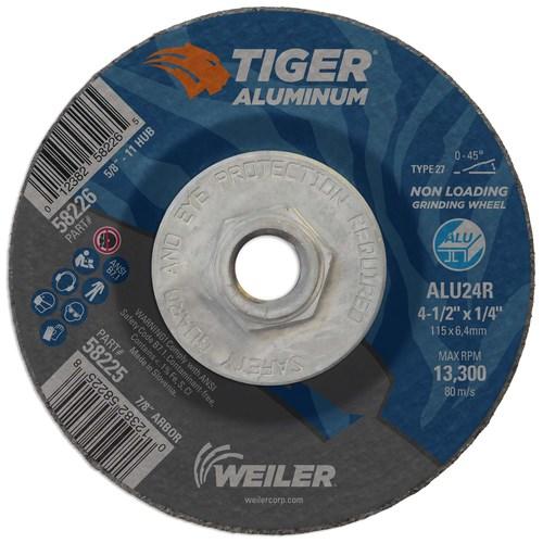 4 1//2 in Dia 10 Pack Depressed Center Wheel 5//8 Arbor Hardness Grade R 1//4 in Thick